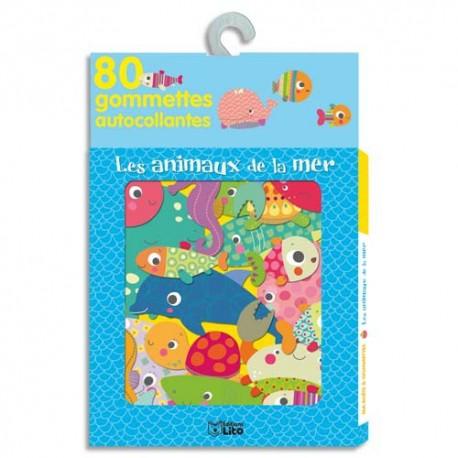 LITO DIFFUSION Boîte de 80 gommettes les animaux de la mer