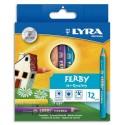 Crayon de couleur Lyra Ferby corps triangulaire mine 6,25 mm assortis étui de 12