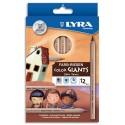 Crayon de couleur Lyra Skin Tones Géant couleurs de peaux étui de 12