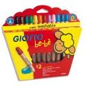 Crayon de couleur Giotto bébè maxi bois + taille crayons mine large 7 mm étui de 12