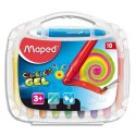 MAPED Boîte de 10 craies gel Smoothy ColorPeps assorties
