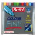 Feutre de coloriage JPC Bérol pointe fine boite de 12 feutres dessin couleurs assorties