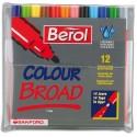 Feutre de coloriage JPC Bérol pointe extra-larges pochette de 12 feutres dessin couleurs assorties