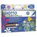 Marqueur peinture Giotto pointe ogive Décor métal coloris assortis étui de 5