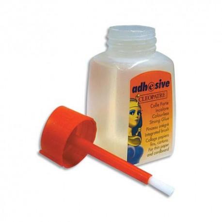 CLEOPATRE Colle synthétique transparente / flacon avec pinceau 80 ml