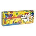PLAY DOH 6 pots 113g de pâte à jouer + 6 offerts, couleurs : bleu, rouge, blanc, jaune, vert, violet