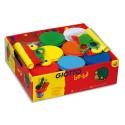 GIOTTO Boîte de 8 x 220g de pâte à jouer assortie avec accessoires de modelage