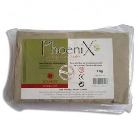 SOLARGIL Pain 1kg terre fibre de lin, végétale ''Phoenix'', autodurcissante, recyclable, développ durable