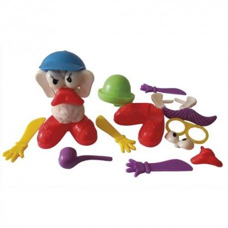 Lot de 19 pièces plastique pour créer des personnages Zigotos avec la pâte à jouer