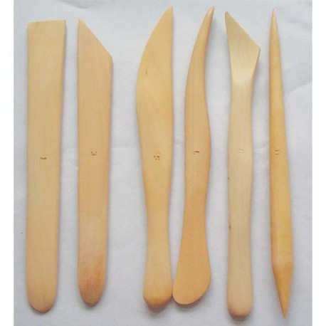 OZ INTERNATIONAL Lot de 6 ébauchoirs en bois assortis