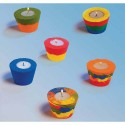 CULTURE CLUB Kit de 12 supports pour bougies chauffe-plat à décorer avec du sable coul assorties fourni