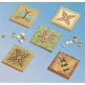 CULTURE CLUB Kit de 12 sous-verre 9 X 9 cm à décorer avec mosaïque 1 x 1 cm assortie fournie