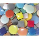 ARGIL Sac 1kg environ 420 mosaïque Smalt carrée et ronde couleurs assorties