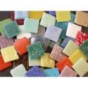 ARGIL Sac 1kg mosaïque en verre carrées couleurs assorties