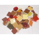 ARGIL Pot de 500 ml de mosaique assortie rouge orange marron