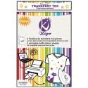 Sachet de 2 feuilles A4 de transfert coton imprimable, se pose sur tissu, carton, bois