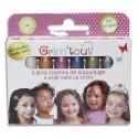 GRIMTOUT Boite de 6 crayons jumbo, couleurs métalliques - Dimensions d'un crayon : 5,5 cm L x 1 cm diam