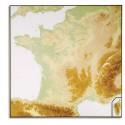 LFC Carte murale France relief 80x120 cm - En polypro 5/10è effaçable à sec