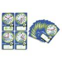 CULTURE CLUB Lot de 12 cartes 15x10cm à aiguilles pour apprendre l'heure