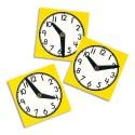 Grande horloge en polypropylène avec aiguilles mobiles format 30x30cm pour apprendre l'heure