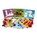 CULTURE CLUB Jeu Logicolor formes géométriques, 9 cartes et + de 100 pièces couleurs et formes assorties