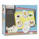 AVENUE MANDARINE Boîte de jeu lotto thème animaux 24 pions 4cm forme galet + 4 planches 13 x 11 cm