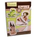 AVENUE MANDARINE Boîte contenant 3 puzzles 23 pièces thème princesses
