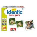 Boîte de 110 cartes de jeux mémo photos animaux