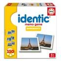 EDUCA Boîte de jeu Identic Memo Game thème monuments