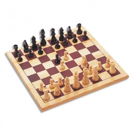 CULTURE CLUB Jeu d'échecs en bois