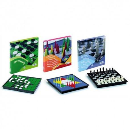 Pack collectivités de 3 jeux magnétiques, Echecs, Dames chinoises, Reversi