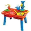 Table de jeu avec deux bacs distinct pour jouer avec de l'eau et ou du sable, livrée ses accessoires