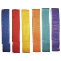 Lot de 6 liens de coordination en tissu 60cm x 4 cm, avec bande velcro couleurs assorties