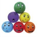 Lot de 6 ballons 6 émotions, en PVC regonflable, diamètre 20 cm, 6 coloris différents