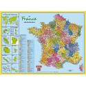 CBG Sous main carte de France format 40,5 x 55 cm