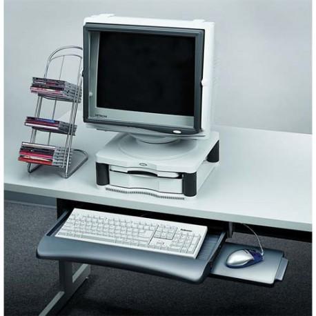 FELLOWES tiroir clavier + tablette souris graphite
