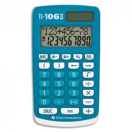 Calculatrice primaire Texas Instruments 4 opérations TI-106II affichage 2 lignes Bleue