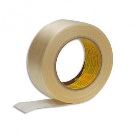 3M Ruban armé renforcé en fils de verre 131 microns - Dimensions : H50 mm x L50 mètres