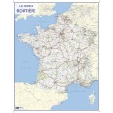 CBG carte murale route de France - Pelliculée format 66 x 84,5 cm - 4 œillets pour suspension