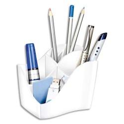 Pot à crayon CEP Multipot ISIS 340 4 compartiments de coloris blanc arctique
