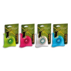 SCOTCH dévidoirs escargot avec rouleau Magic invisible 19 mm x 33 m, couleur assortie