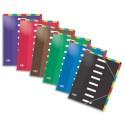 Trieur 8 positions - Trieur Elba en carte pelliculée, 8 compartiments verticals et horizontals, A4, coloris assortis