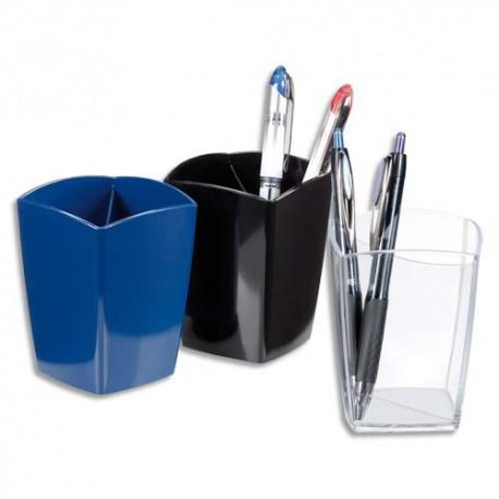 Accessoire de bureau Eco 5* Pot à crayons en polystyrène - D7,5 cm, hauteur 10,5 cm coloris bleu
