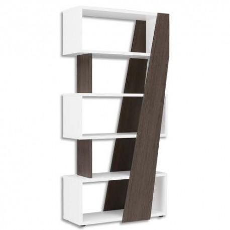 GAUTIER Bibliothèque réversible gauche/droite Xenon - Dimensions : L90 x H188 x P38 cm chêne Royal