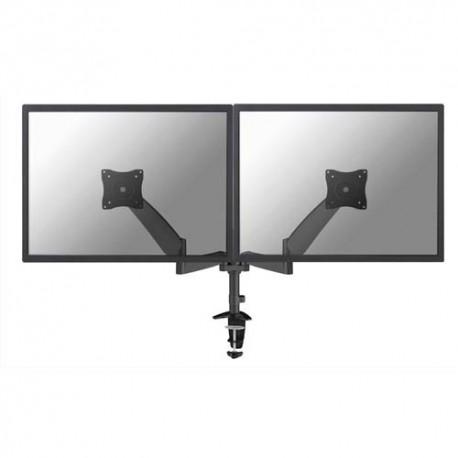 NEWSTAR Support écran plat noir à pince pour 2 écran plats plats jusqu'à 10-27'', 18Kg FPMA-D950DBLACK
