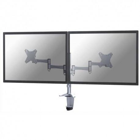 NEWSTAR Support écran plat gris à pince pour 2 écran plats plats jusqu'à 10-27'', 18Kg FPMA-D1330DSILVER