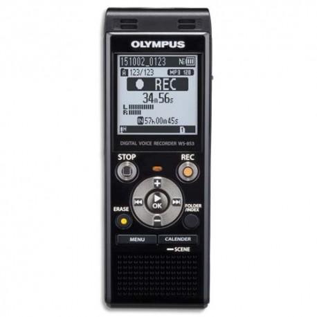 OLYMPUS Enregistreu num stéréo WS853, 8Go,MP3,USB rétract.,lecteur SD 32Go max, mode transcr.V415131BE000