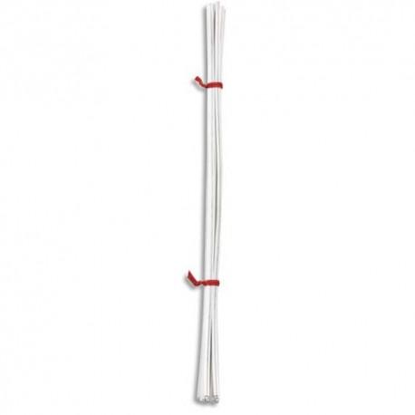 EMBALLAGE Paquet de 10 000 Liens blanc, fil métallique enrobé de polyéthylène - L10 cm x épaisseur 3,7 mm