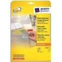 Etiquette AVERY L6057 - Boite de 280 Etiquettes de couleur enlevable jaune 99,1x38,1mm L6057-20 - Jaune
