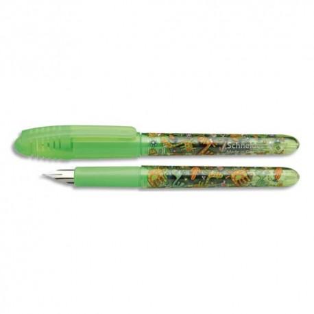 Stylo plume Schneider zippi moyenne corps vert & motifs